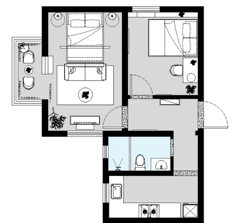 52平米,北歐超溫馨小公寓。1625898