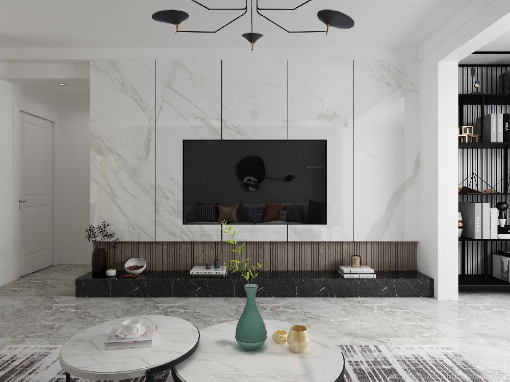 110平三居室現代簡約風格客廳篇