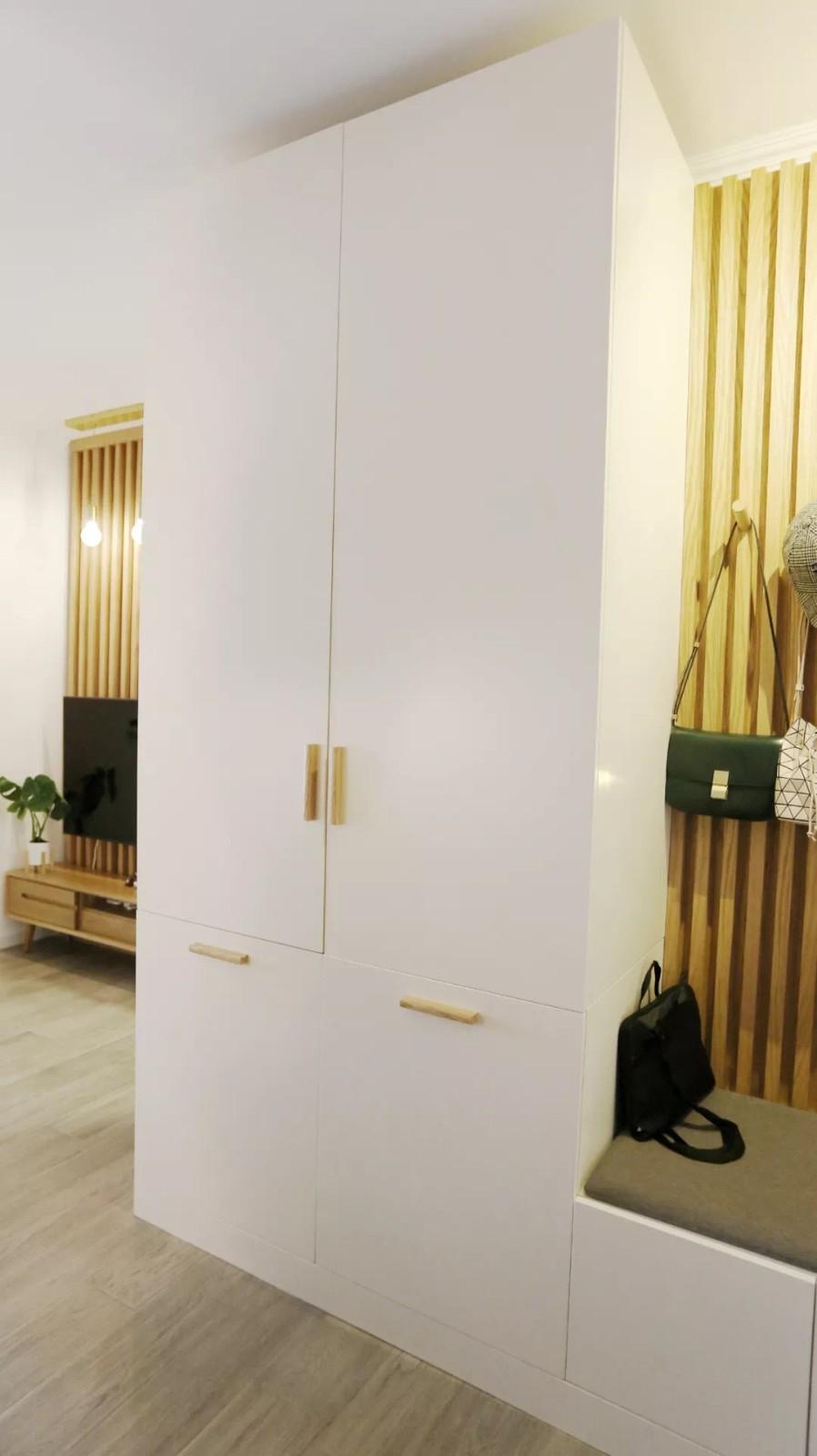 45㎡小户型变一室两厅,还有祖母绿轻奢墙16579972