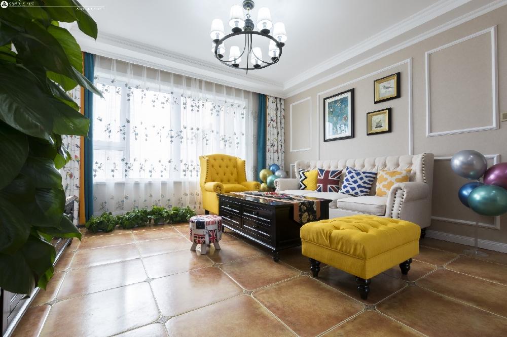 轩和苑110平米美式田园风格装修16753925