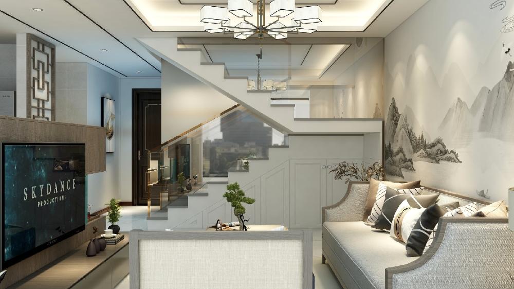 60㎡一层复式楼,焕然一新的新中式17324062