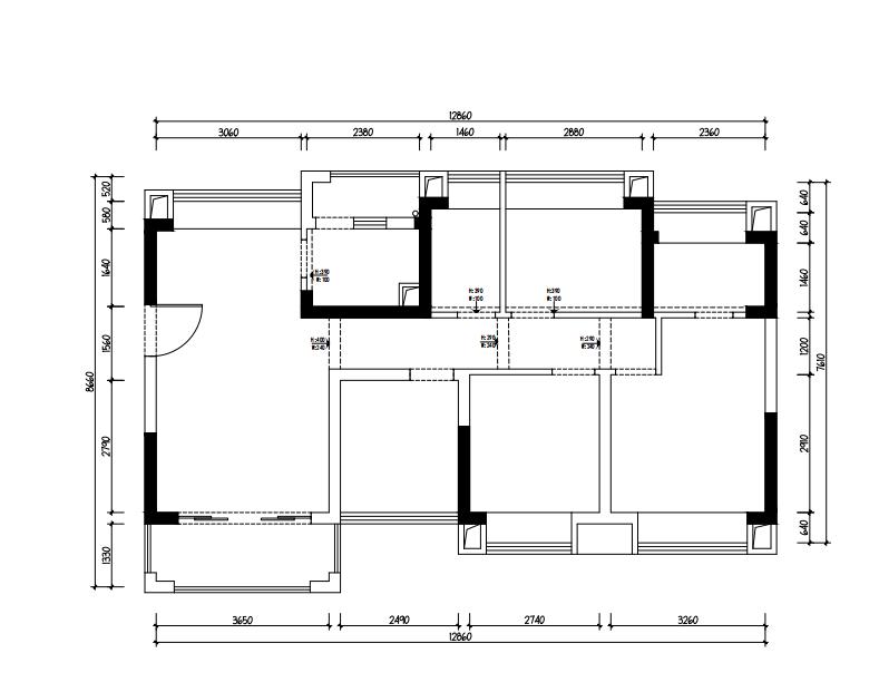 兩房單身公寓現代裝修案例1670241