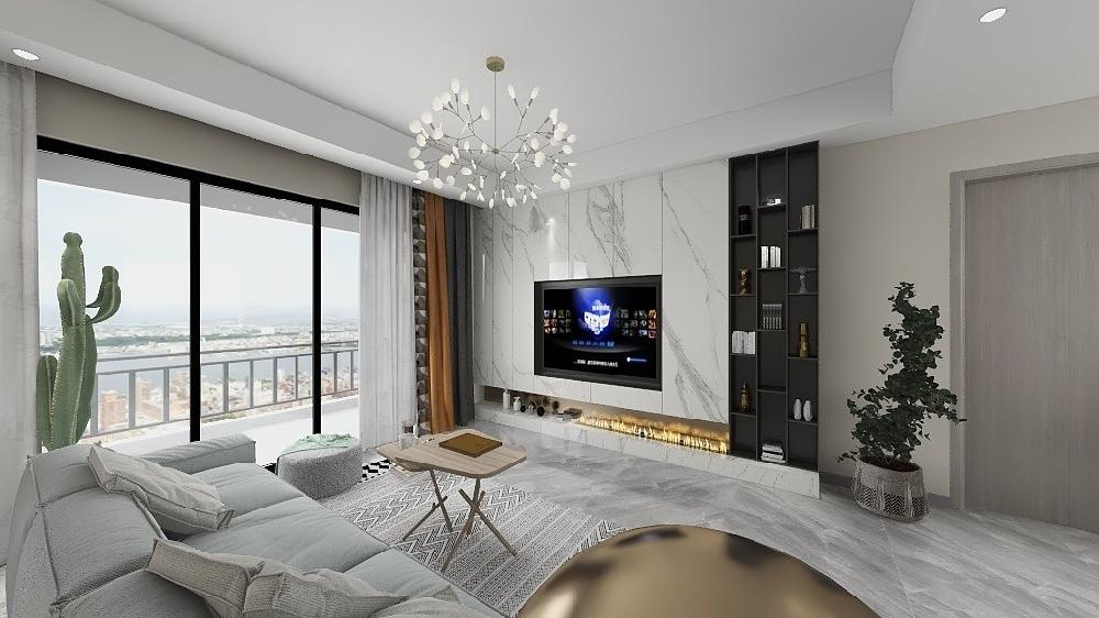 两房公寓北欧装修案例17354758