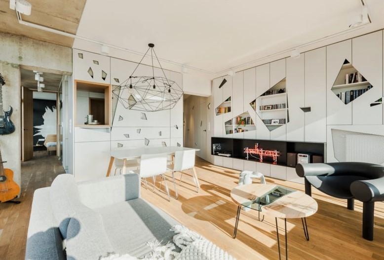 充满个性的公寓装修-现代风格17405338