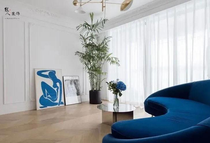 153㎡時髦輕法式風格兩室裝修17413478
