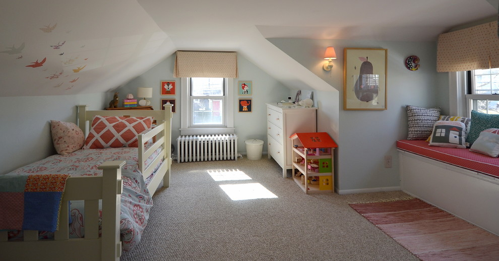 现代阁楼卧室窗台装修效果图