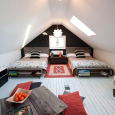 现代阁楼卧室设计装修效果图