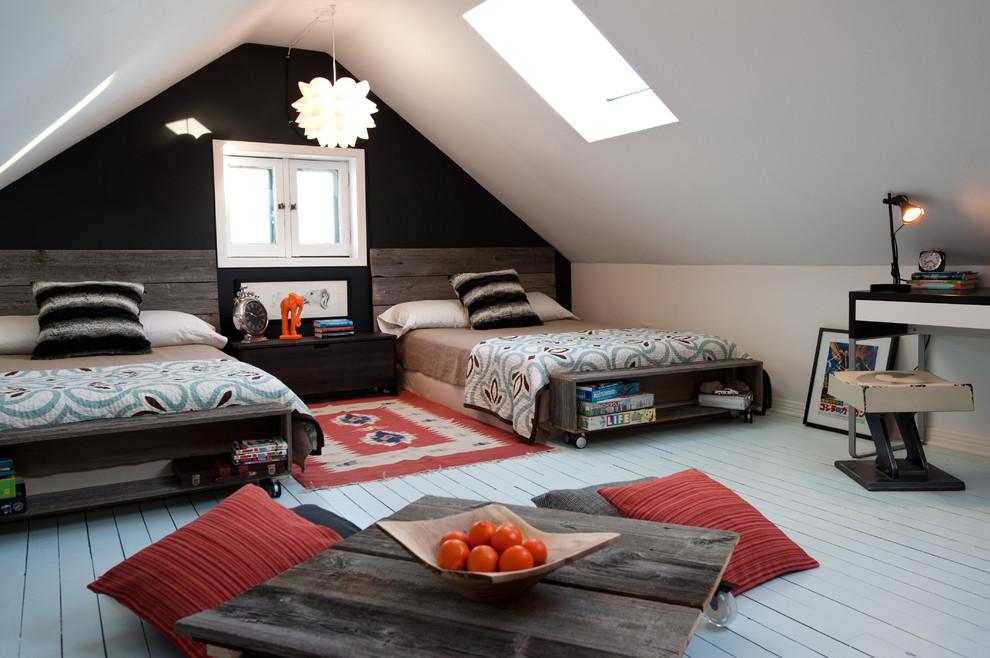 现代风格阁楼卧室设计装修效果图片