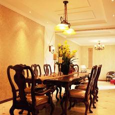 精美面积95平混搭三居餐厅装修实景图片欣赏
