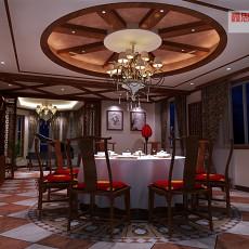现代风格客厅兼餐厅效果图