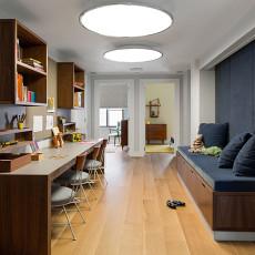 热门面积98平混搭三居书房装修设计效果图