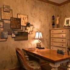 热门面积93平混搭三居书房装修设计效果图片欣赏