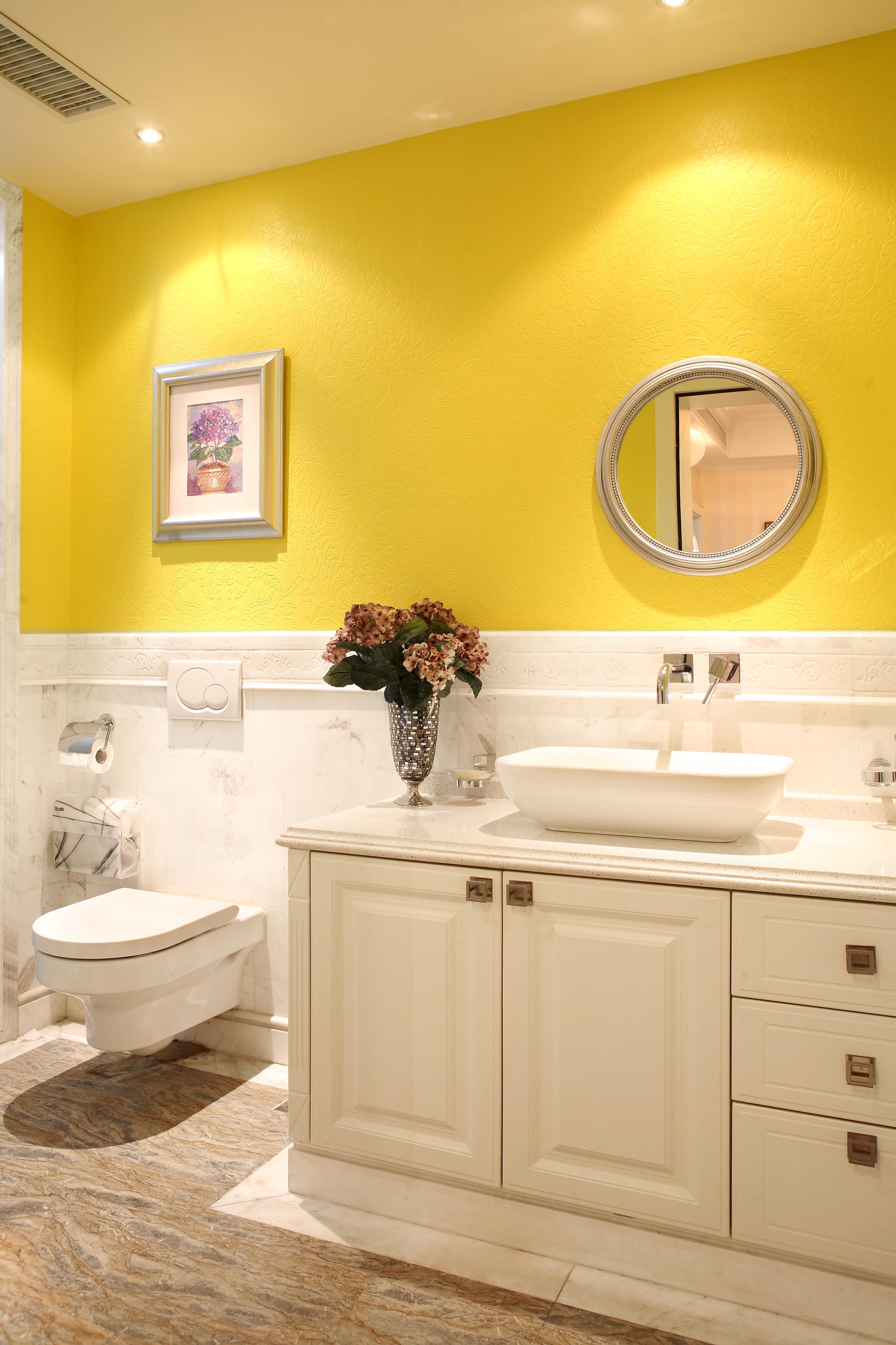 歐式小衛生間浴室柜家裝效果圖
