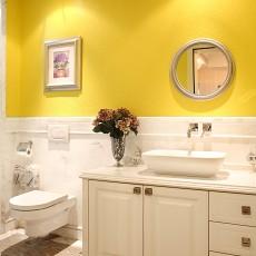 欧式小卫生间浴室柜家装效果图