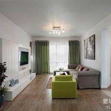 精选93平方三居客厅现代装饰图片大全