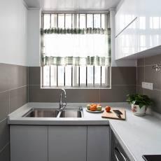 现代三居厨房实景图