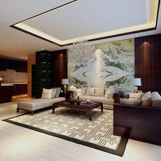 132平方混搭别墅客厅装修设计效果图片欣赏