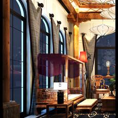 124平米混搭别墅客厅装修效果图片大全