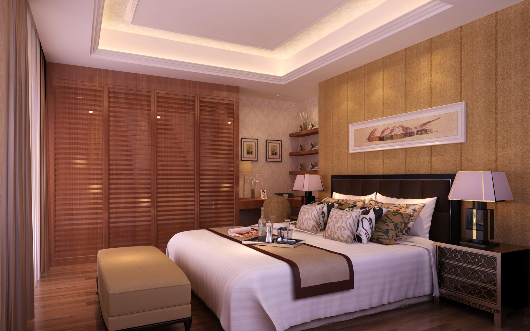 面积132平复式卧室装修图
