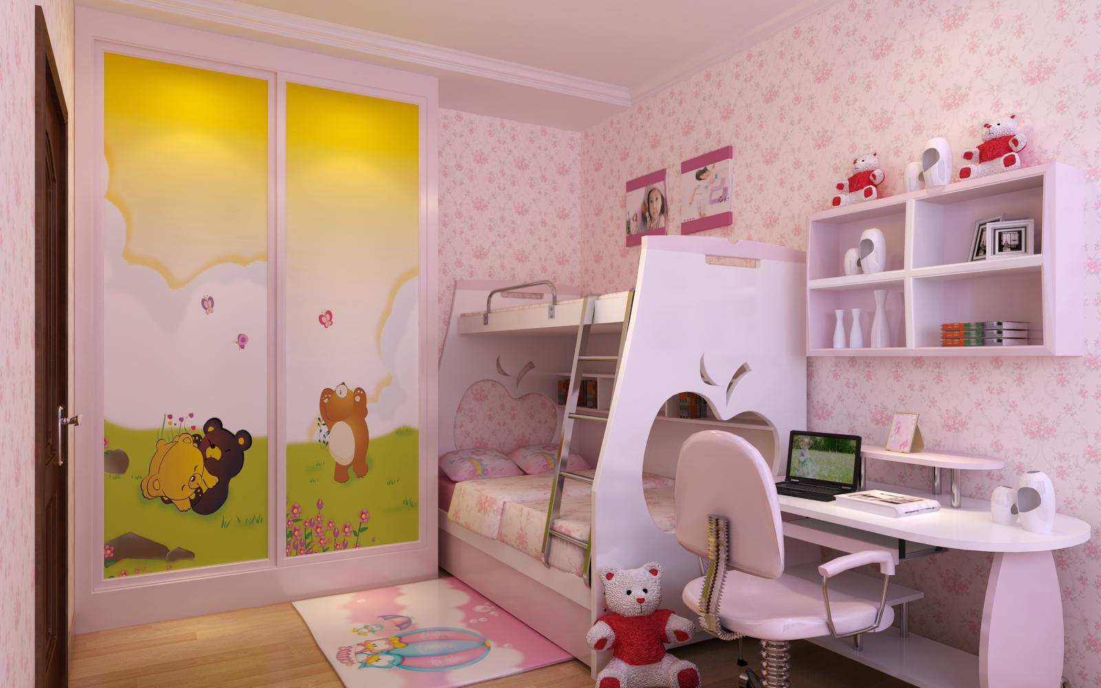 精选复式儿童房混搭效果图片