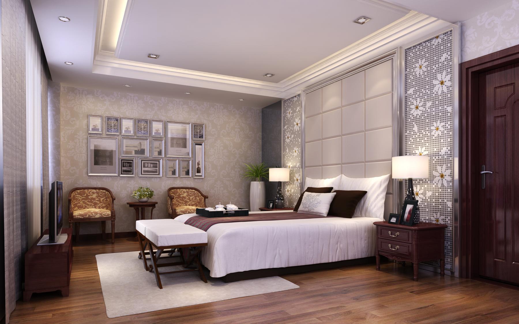 热门125平米复式卧室装修效果图