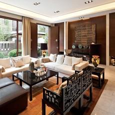 2018136平米中式别墅客厅欣赏图