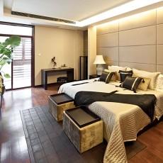 精选115平米现代别墅卧室装修实景图