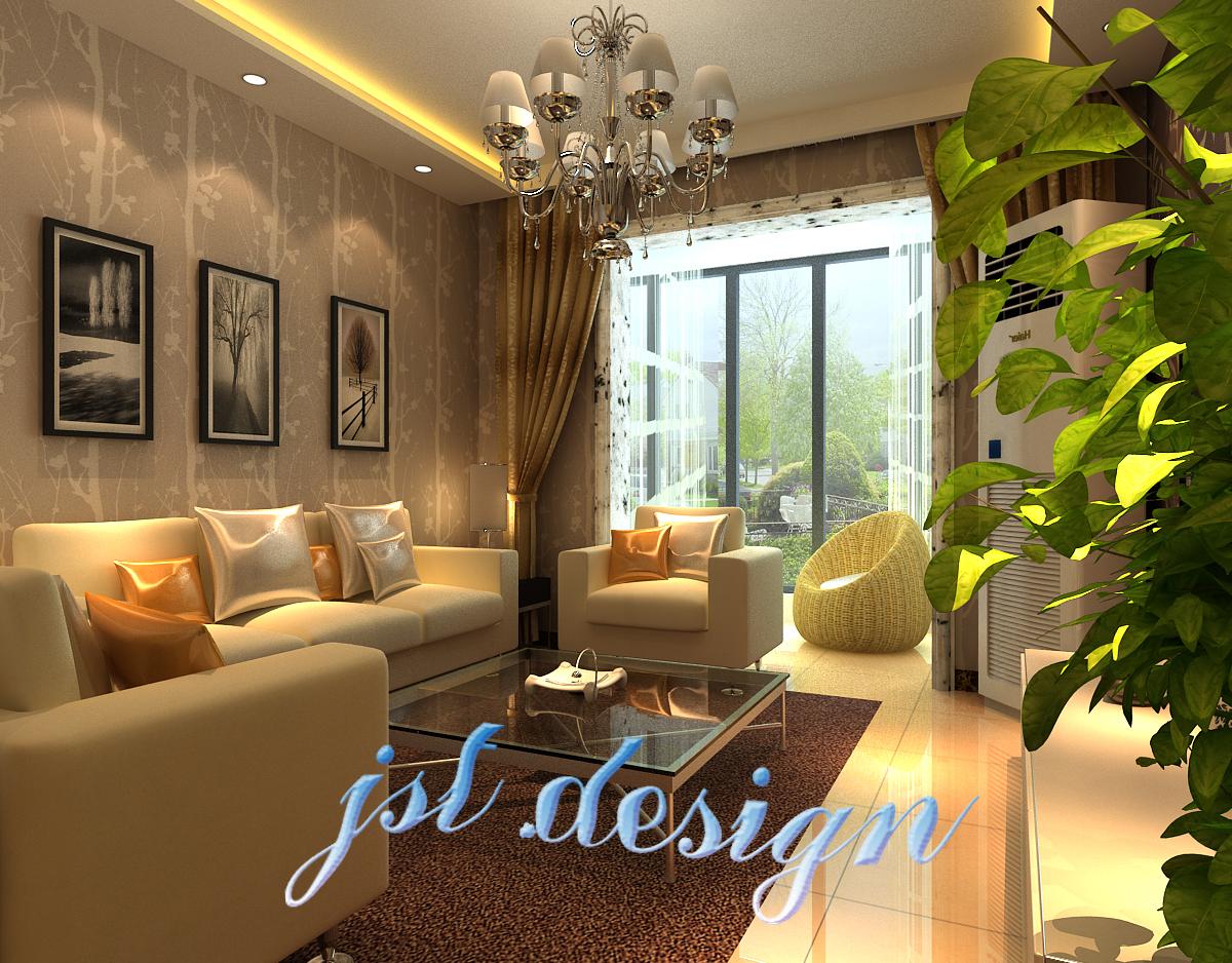 73平方二居客厅现代效果图片