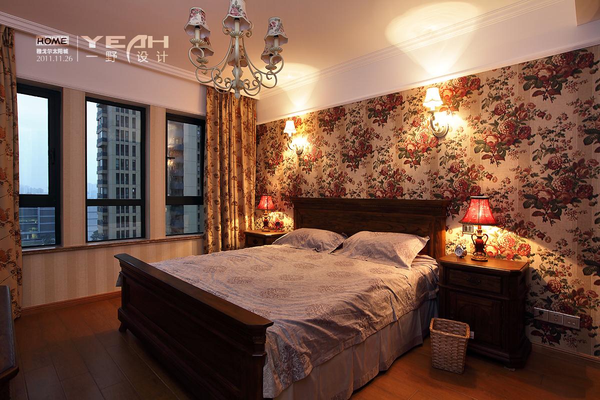 精美面积92平混搭三居卧室欣赏图