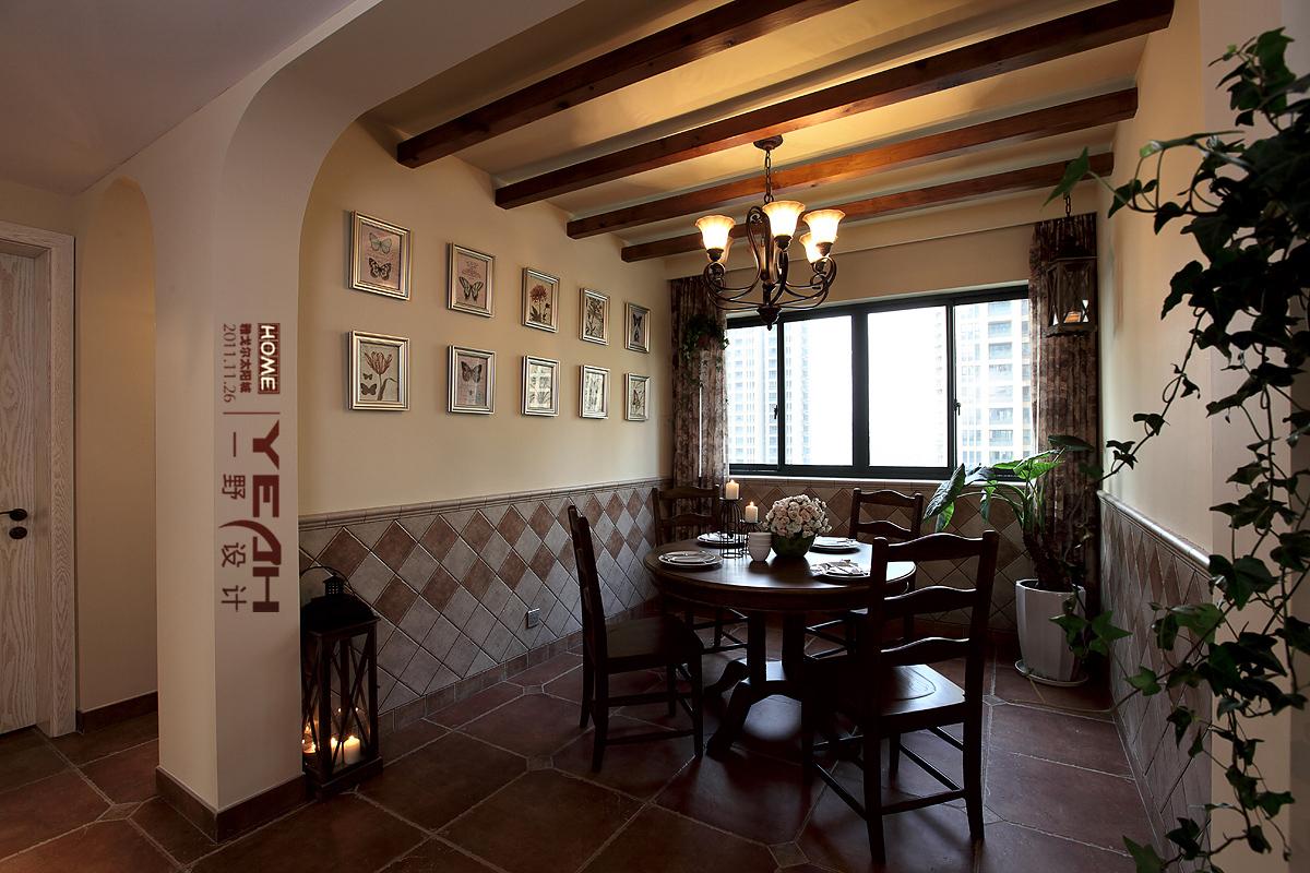 2018106平米三居餐厅混搭装饰图