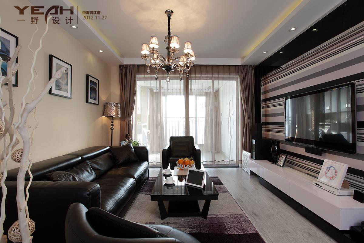热门115平米四居客厅混搭装修欣赏图片大全