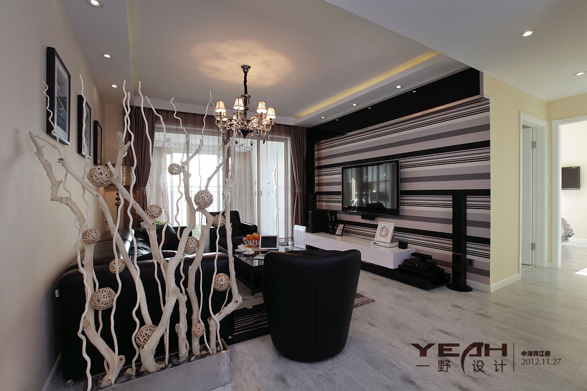 2018精选面积118平混搭四居客厅装饰图片大全