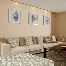 热门面积128平复式客厅混搭装修实景图片大全