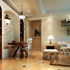 精美面积79平混搭二居餐厅装修欣赏图