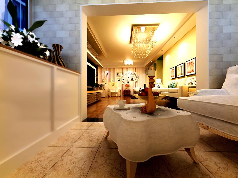 混搭简约木质一居室设计图片
