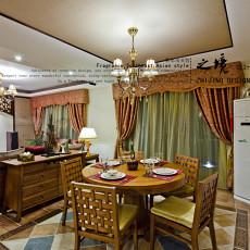 精选88平米二居餐厅东南亚装饰图片