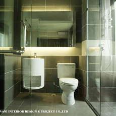 热门面积99平混搭三居卫生间装修设计效果图片欣赏