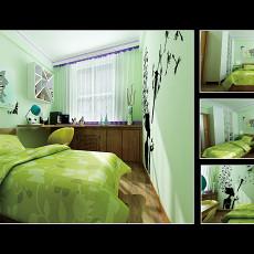 75平米二居儿童房混搭装修设计效果图