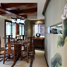 2018面积96平中式三居餐厅装饰图片欣赏