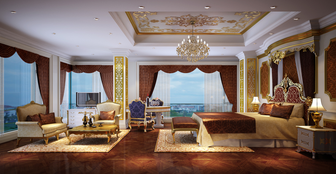 欧式典雅风卧室装修
