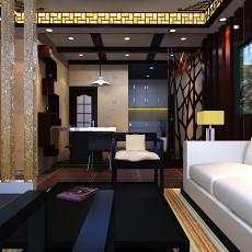 精美面积105平混搭三居卧室装修实景图