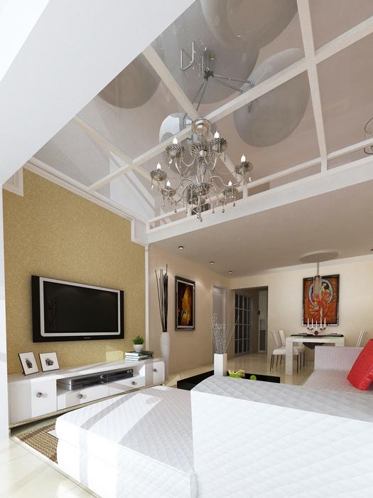 热门124平米混搭复式客厅实景图片大全