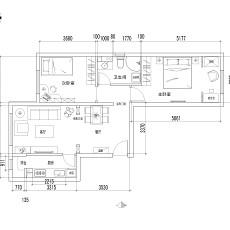 精选73平米二居客厅混搭欣赏图