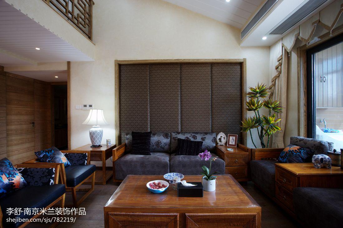 精选113平米中式别墅客厅装修效果图