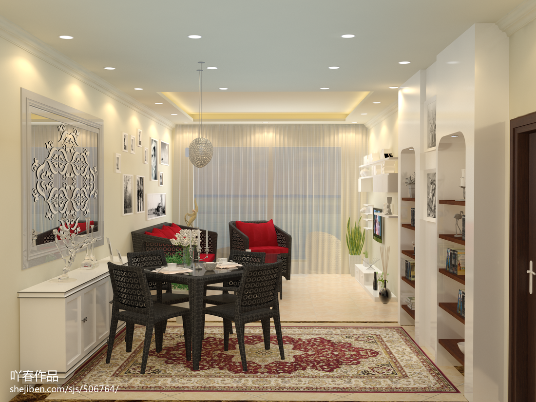极简白色低调一居室欣赏图