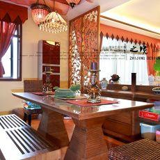 面积89平小户型餐厅东南亚效果图