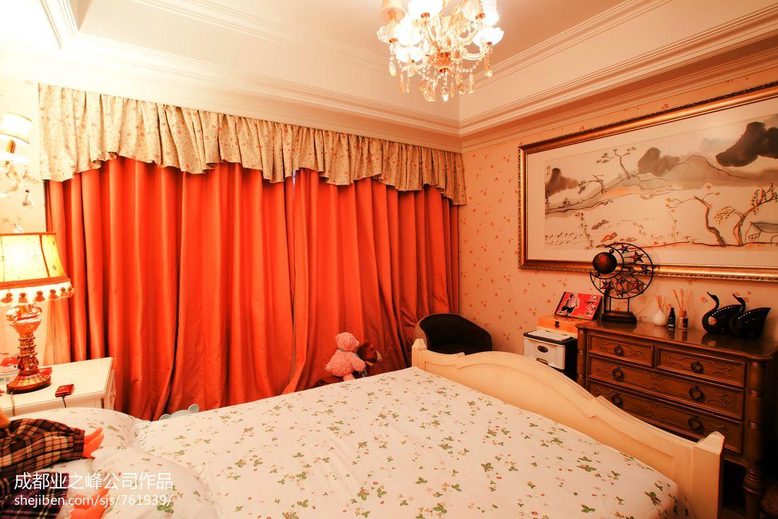 精美面积78平小户型卧室混搭欣赏图片