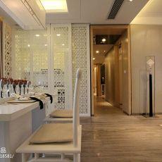 热门面积105平中式三居餐厅装饰图