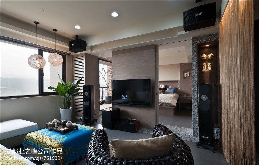 精美97平大小客厅三居混搭效果图片
