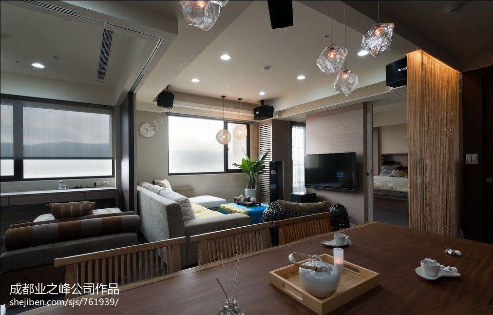精选面积91平混搭三居餐厅实景图片